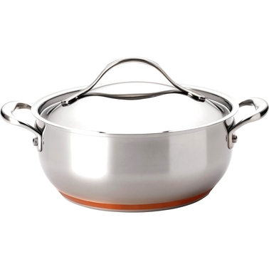 Anolon Nouvelle Copper Stainless Steel 4 Qt. Covered Chef Casserole