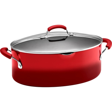 Rachael Ray Hard Enamel Nonstick 8-Qt. Covered Pasta Etc. Pot
