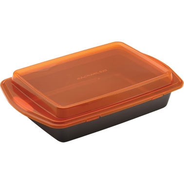 Rachael Ray Nonstick Bakeware 9 x 13 In. Covered Cake Pan