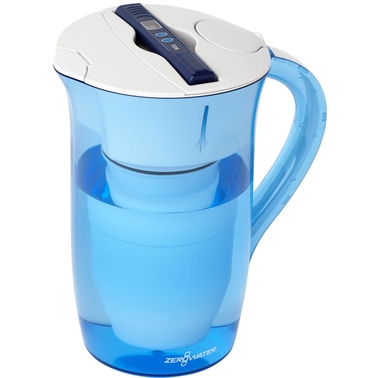 ZeroWater 10 Cup Round Ready Pour Pitcher with Free TDS Meter