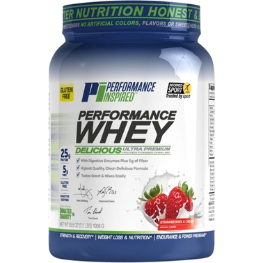 Performance Inspired Strawberries N' Cream Performance Whey Protein Powder, 2 lb.