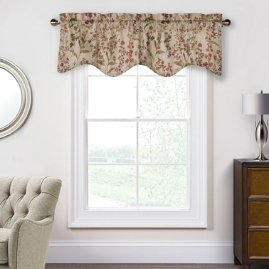 Commonwealth Home Fashions Rockport Pole Top Lined Valance