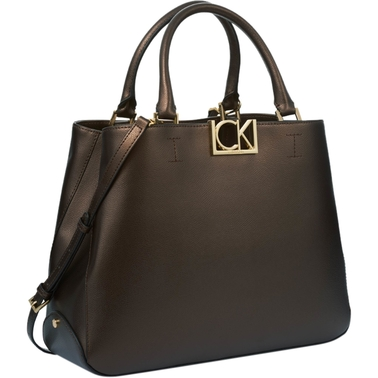 Calvin Klein Classic Leather Satchel