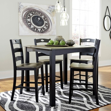Signature Design by Ashley Froshburg 5 Pc. Square Counter Height Dining Set