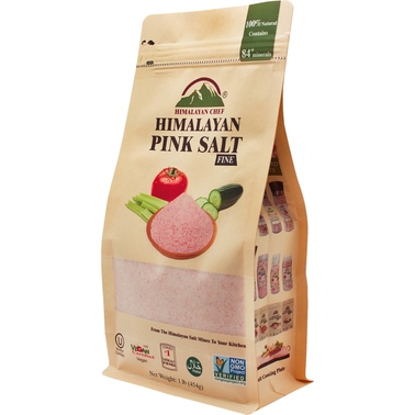 Himalayan Chef Fine Pink Salt in 16 Oz. Pouch