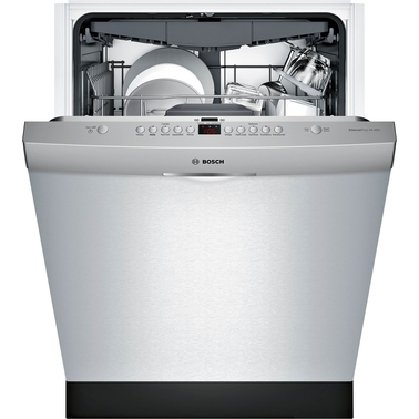 Bosch 300 Series 24 In. Scoop Handle Stainless Steel Built In Dishwasher