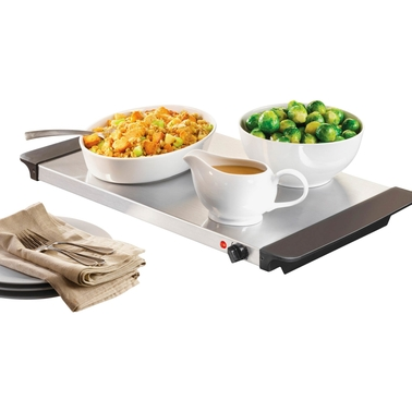 Nostalgia 3 Station 7.5 qt. Buffet Server and Warming Tray