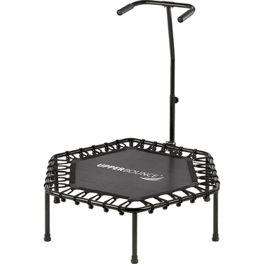 UpperBounce Hexagonal Bungee Cord Suspension Mini Trampoline with T Hand Rail