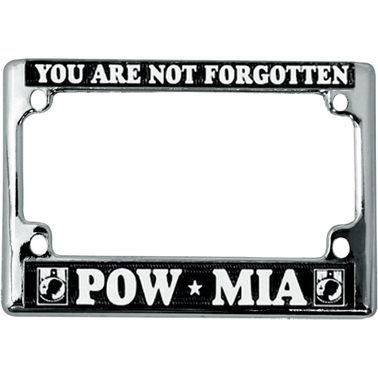 Mitchell Proffitt You Are Not Forgotten POW/MIA Motorcycle License Plate Frame