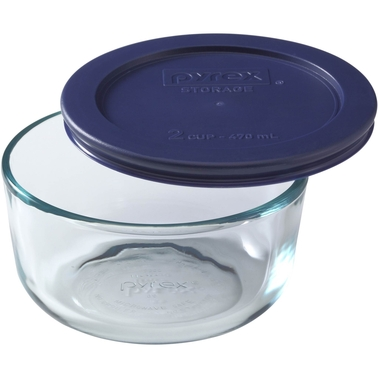 Pyrex Storage 2-Cup Round Bowl with Plastic Cover