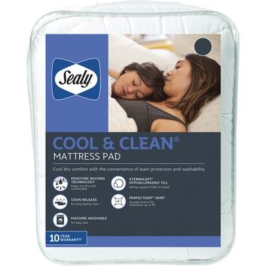 Sealy Cool Amp Clean Mattress Pad Mattress Pads