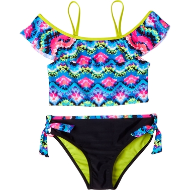 Limited Too Girls 2 Pc. Tie Dye Swimsuit