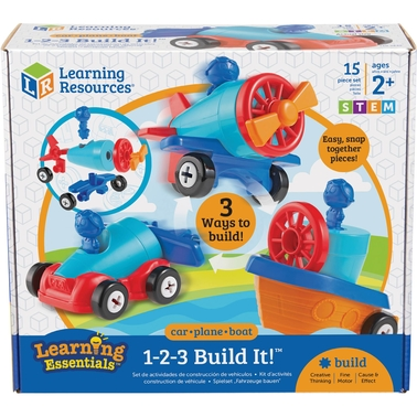 Learning Resources 123 Build it Car Plane Boat