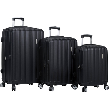 Dejuno Camden 3 pc. ABS Spinner Luggage Set