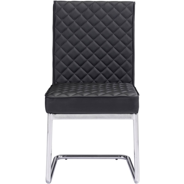 Zuo Modern Quilt Armless Dining Chair Black 2 Pk.