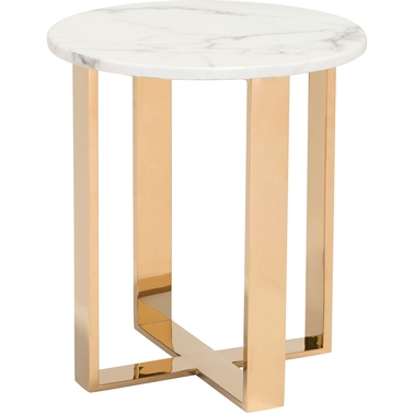 Zuo Modern Atlas Stone and Gold End Table