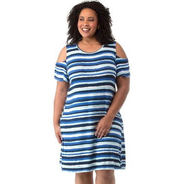 Cherokee Plus Size Cold Shoulder Dress