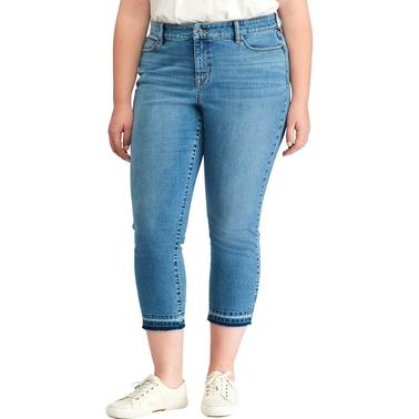 b5addf807818a Lauren Ralph Lauren Plus Size Premier Straight Crop Jeans