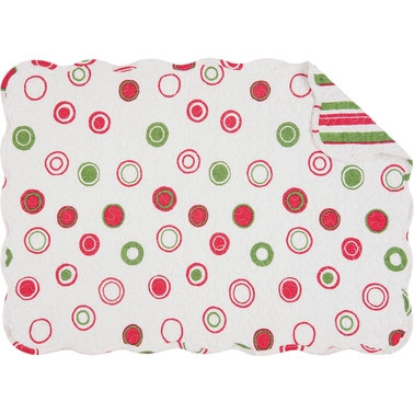 C & F Home Holiday Bubbles Reversible Placemat 6 pk.
