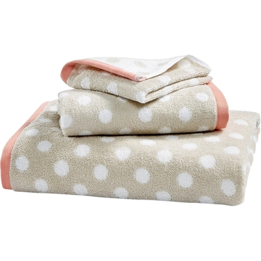 Martha Stewart Collection Cotton Spa Fashion Dot Hand Towel Collection