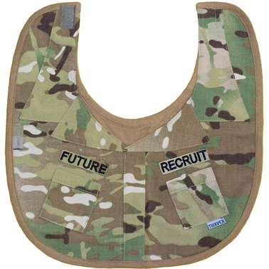 Trooper Clothing Infant Boys Multicam Future Recruit Uniform Bib