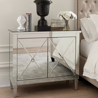 Scott Living  Accent Cabinet with Mirrored Panels