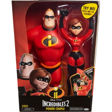 Disney The Incredibles Power Couple Mr. Incredible and Elastigirl Action Figures