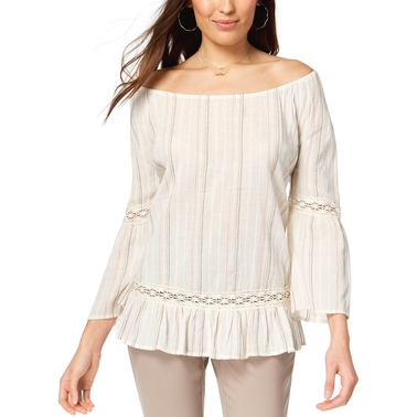 Style & Co. Cotton Off the Shoulder Top