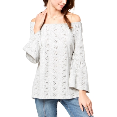 Style & Co. Off the Shoulder Cotton Eyelet Top