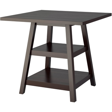 CorLiving Bistro Counter Height Cappuccino Dining Table with Shelves