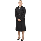 DLATS Women's All Weather Coat, Black