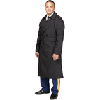 DLATS Men's Black All Weather Coat