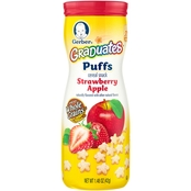 Gerber Graduates Puffs Strawberry Apple 1.48 oz. Cereal Snack