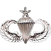 Army Badge, Regular Mirror Finish, Senior Parachutist