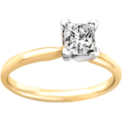 14K Gold 1/2 Ct. Princess Cut Diamond Solitaire Ring