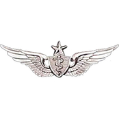 Army Badge, Regular Mirror Finish, Senior Flight Surgeon