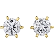 14K Gold 1/3 CTW Diamond Solitaire Stud Earrings