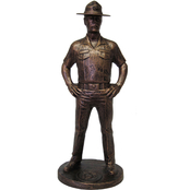 Terrance Patterson Gallery, Ltd. Marine Drill Instructor Statue