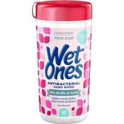 Wet Ones Antibacterial Hand Wipes Fresh Scent Canister 40 ct.