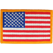 Forward Facing American Flag Patch 3 1/4 X 1 3/16 Color