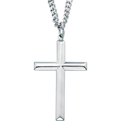 PalmBeach Stainless Steel Cross Pendant