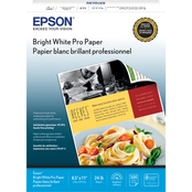 Epson Bright White Paper 500 Sheets, Letter