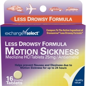 Exchange Select Less Drowsy Formula Motion Sickness Relief Tablets 16 ct.