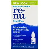 Bausch & Lomb ReNu MultiPlus Lubricating/Rewetting Eye Drops .27 Oz.