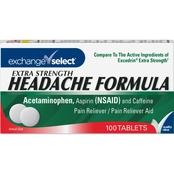 Exchange Select Extra Strength Headache Formula Tablets 100 ct.