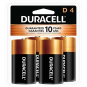 Duracell D Batteries 4 pk.
