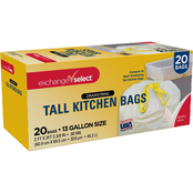 Exchange Select 13 gal. Tall Kitchen Drawstring Waste Bags, 20 pk.