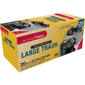 Exchange Select Drawstring Trash Bags 30 Gallon Black 20 pk.