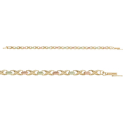 Black Hills Gold 10K Yellow Gold Tri-Color Hugs and Kisses Bracelet