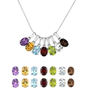 Week of Genuine Gemstones Earrings and Pendants Set